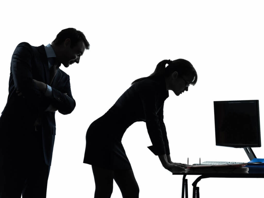 silhouette of sexual harassment in workplace
