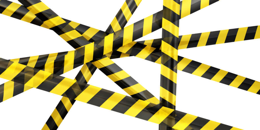 striped caution tape