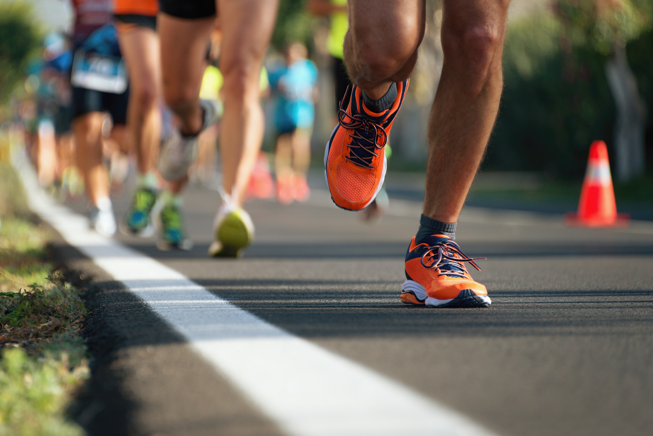 feet of racers running