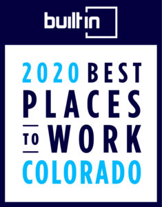 Built In 2020 Best Places to Work Colorado graphic