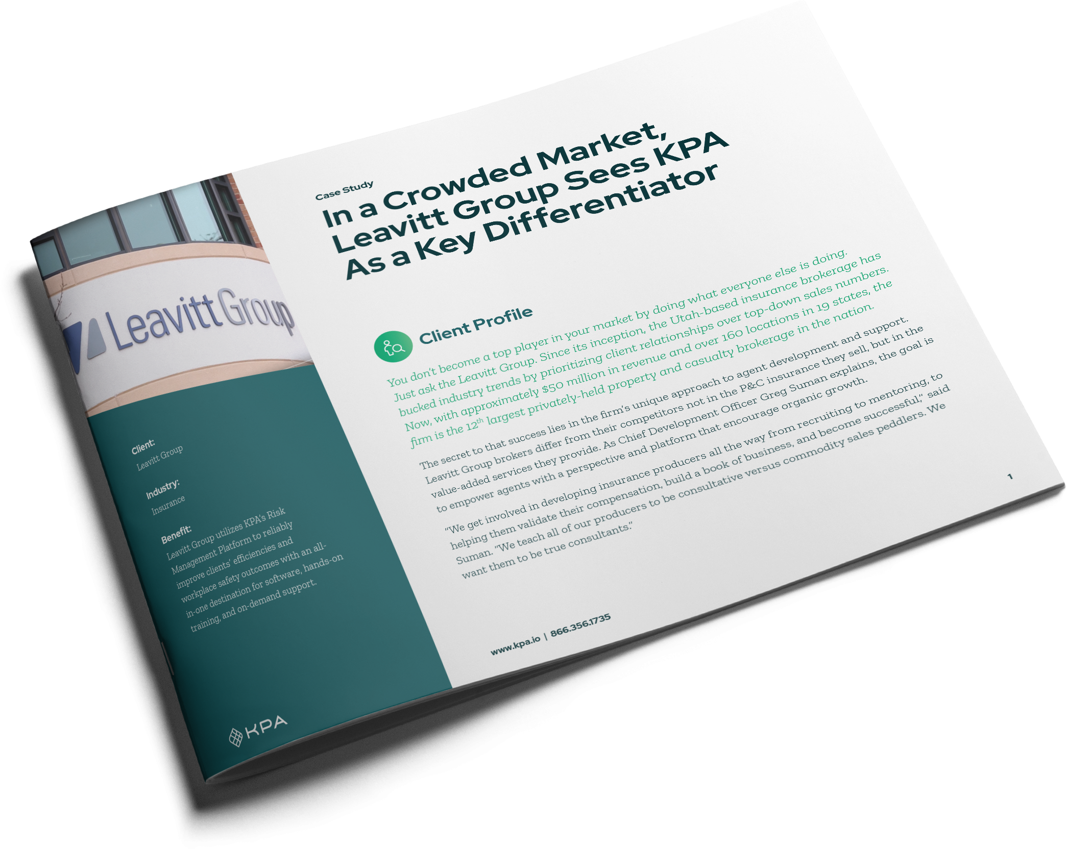 Case Study Leavitt Group cover