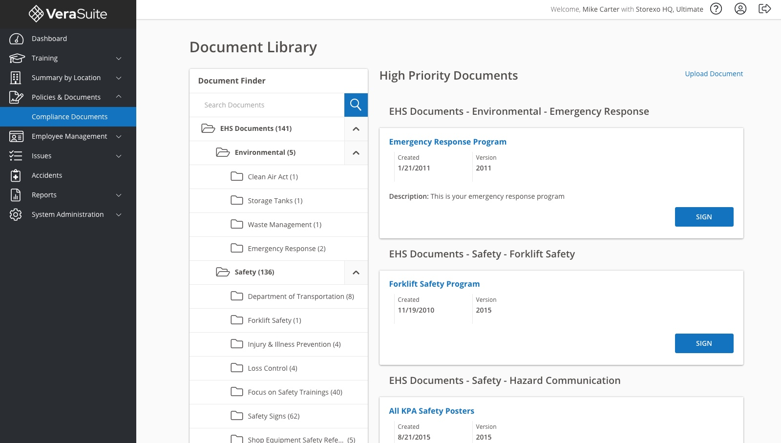 Compliance Document Library