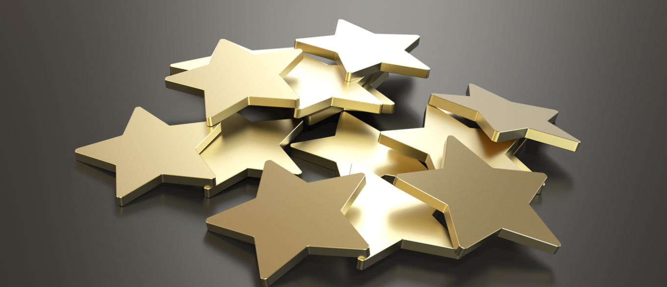 pile of gold stars