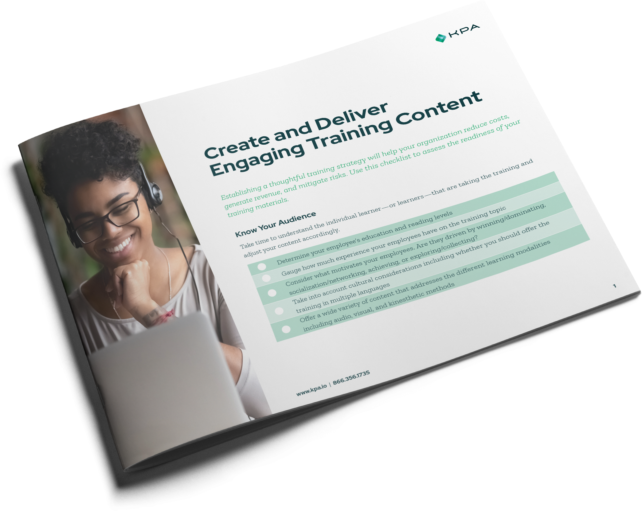 Create and Deliver Engaging Training Content booklet cover