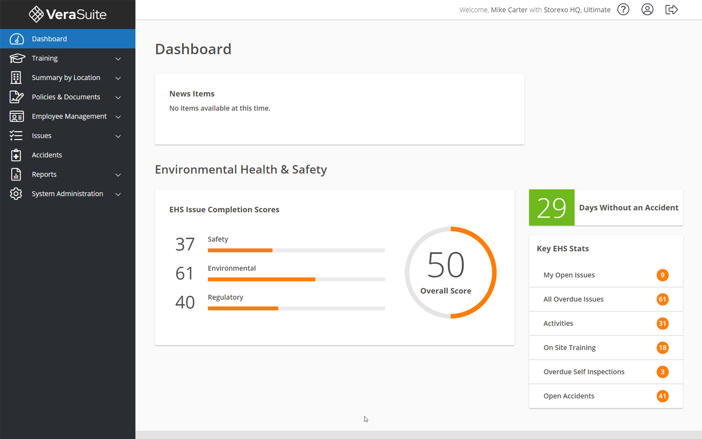 ehs dashboard