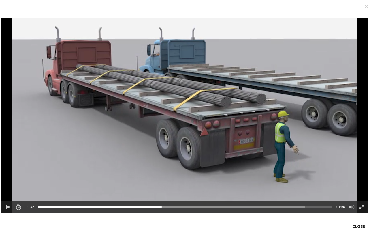 A rendered drawing of a recreated accident with a semi truck trailer