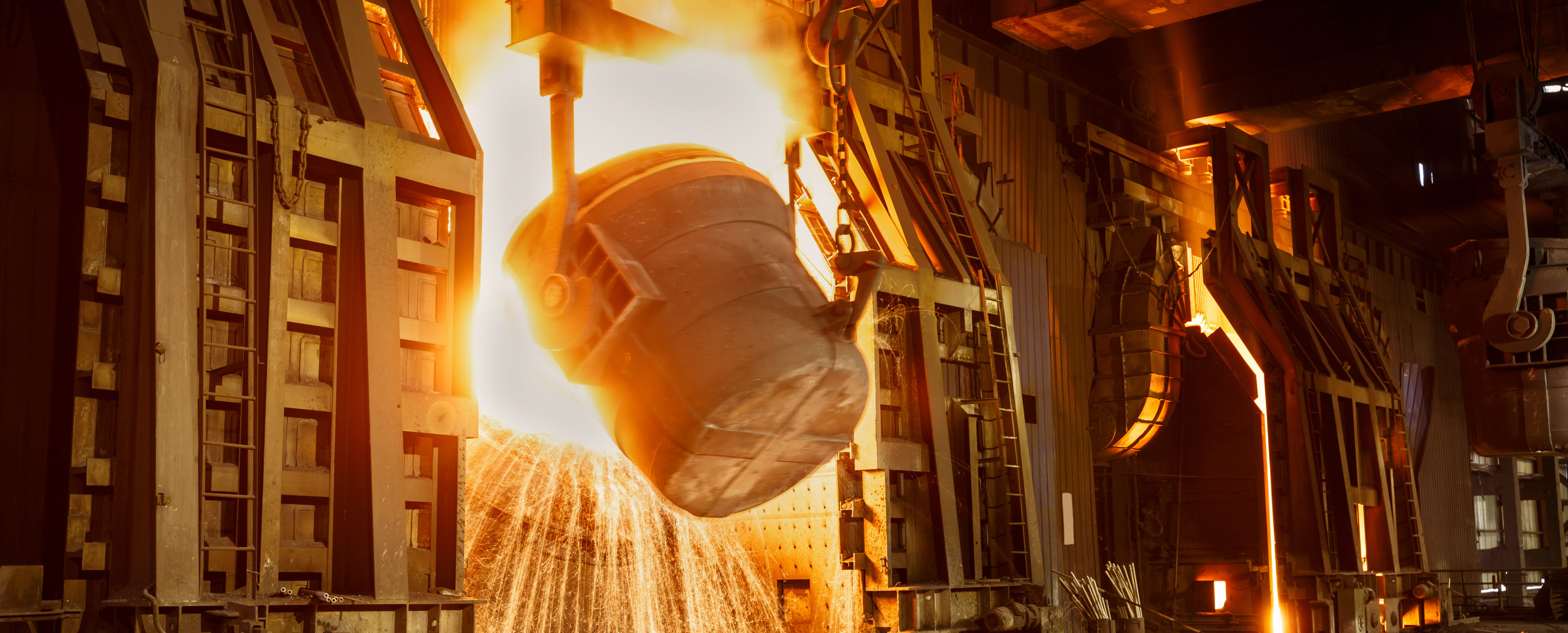 Metal smelting furnace in steel mills