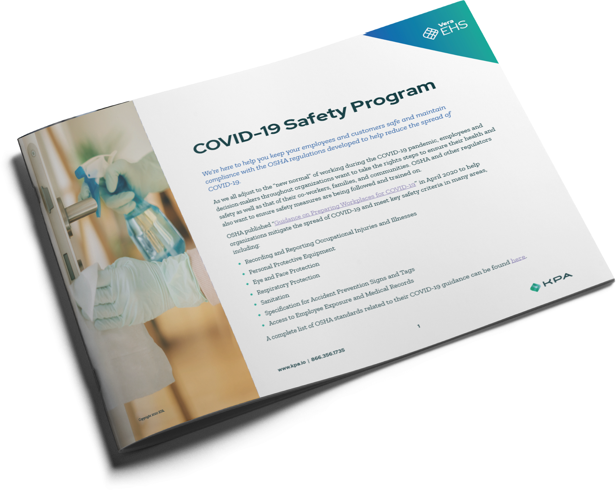 Hospitality COVID-19 Safety Program Datasheet Cover Thumbnail