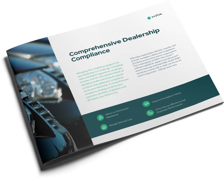KPA Solution Brief - Comprehensive Dealership Compliance Cover