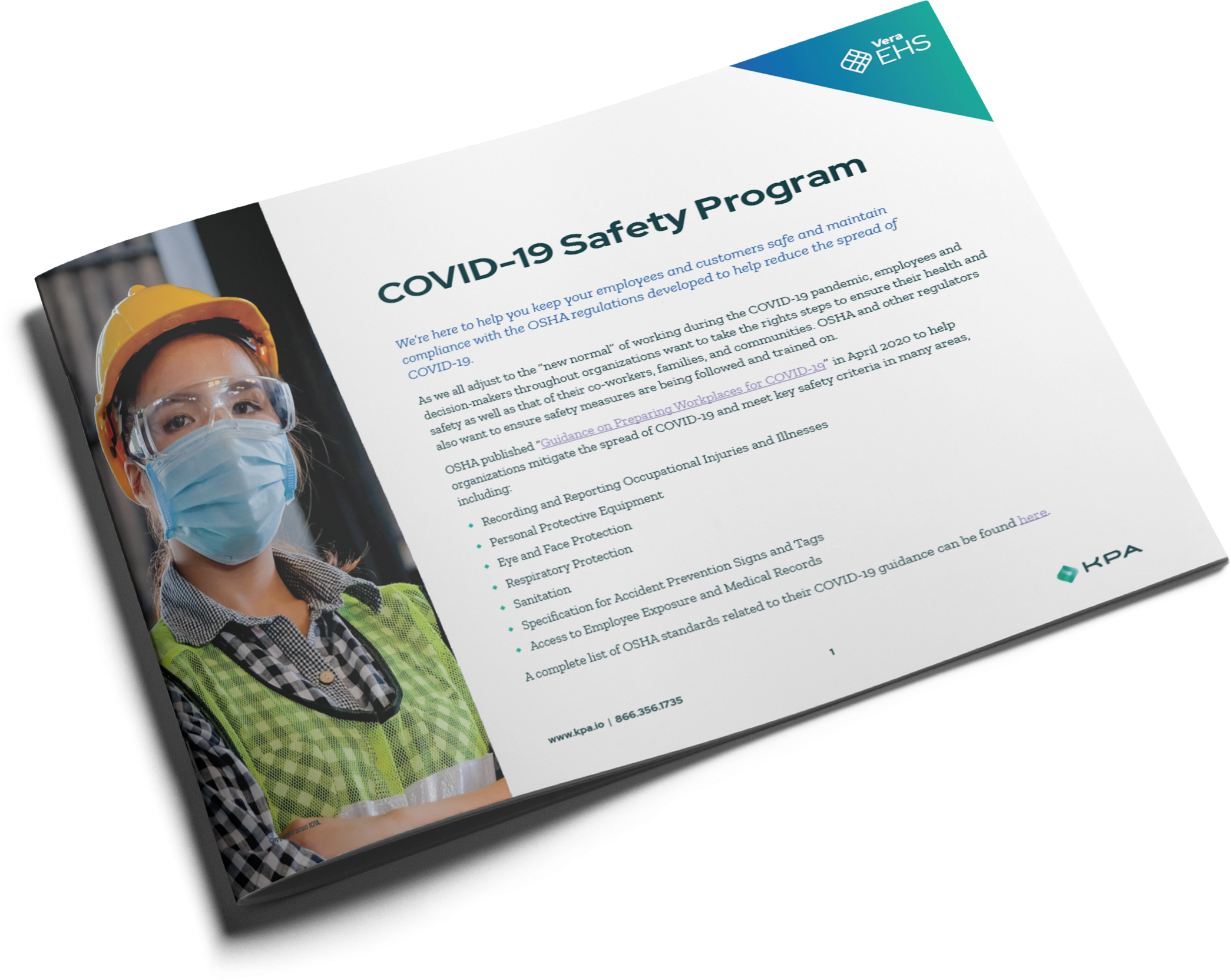 Manufacturing COVID-19 Safety Program Datasheet Cover Thumbnail
