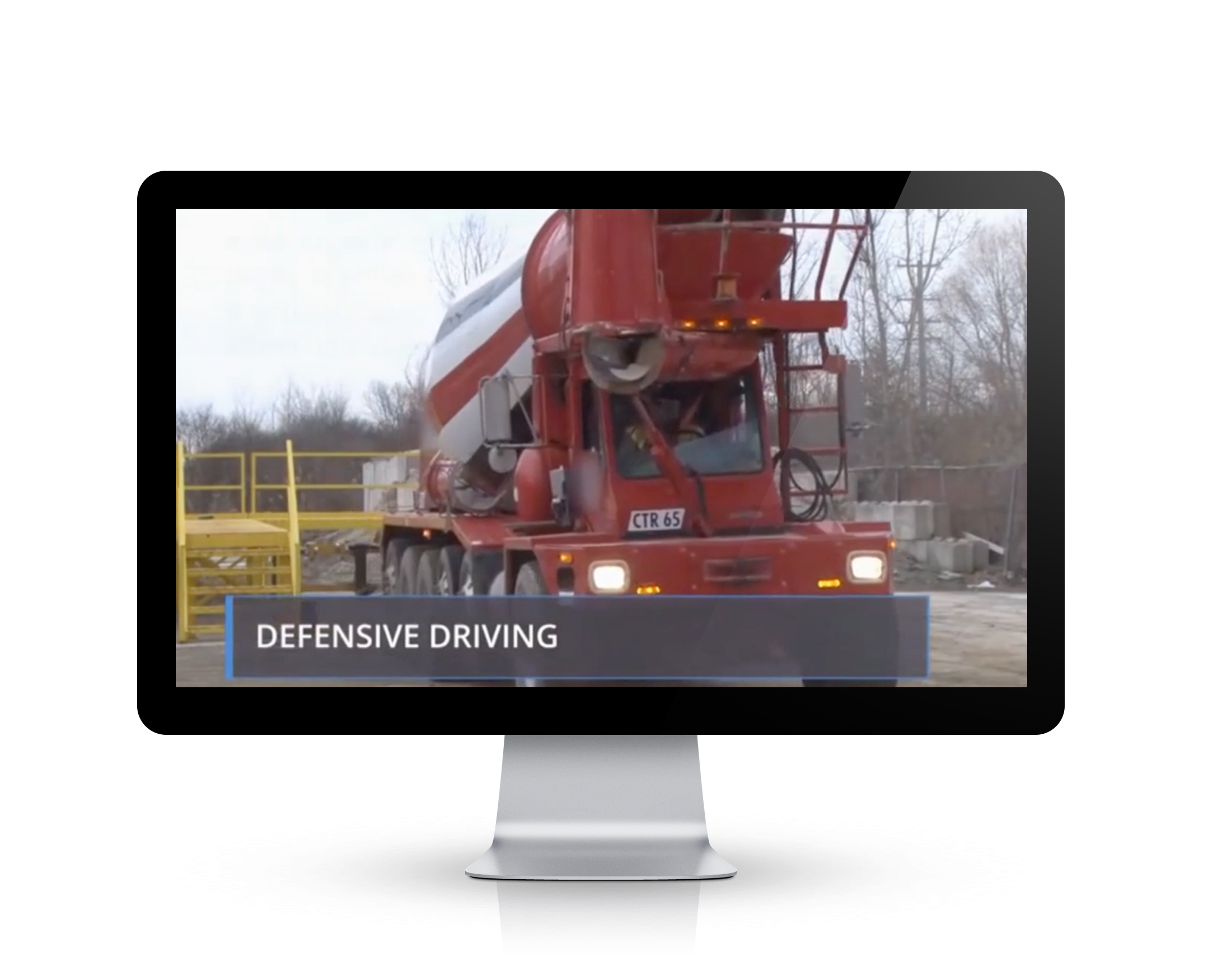 defensive driving ehs training still on a Video Base