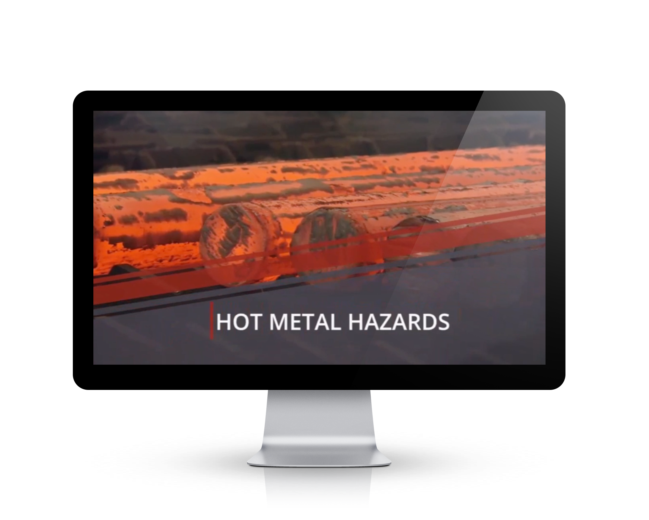 Hot Metals safety training screen shot on a Video Base