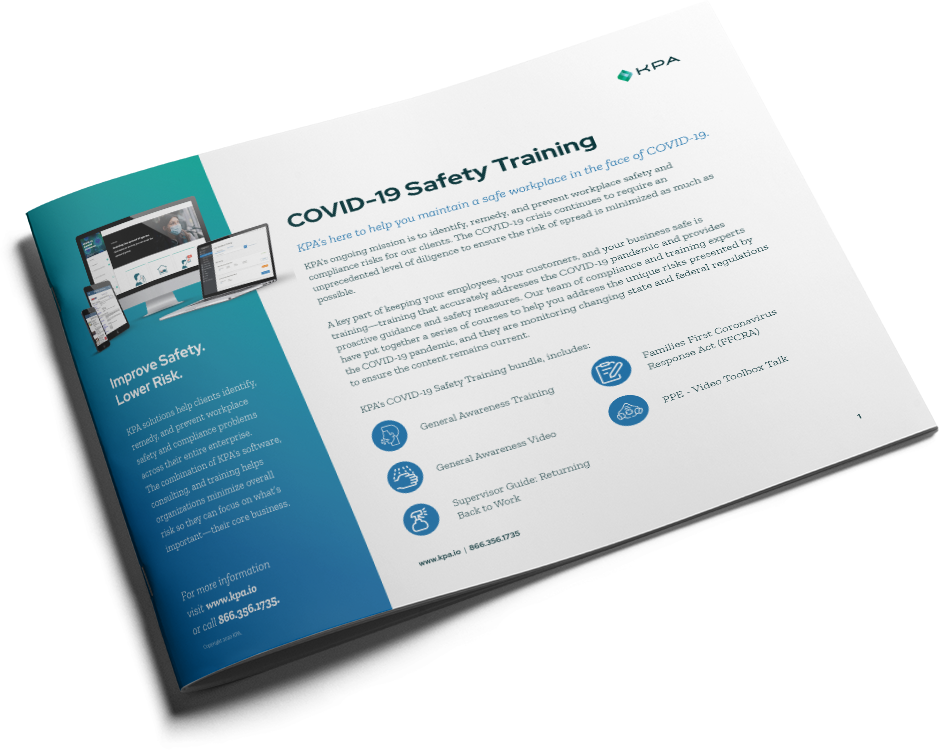 COVID-19 Training Datasheet Cover