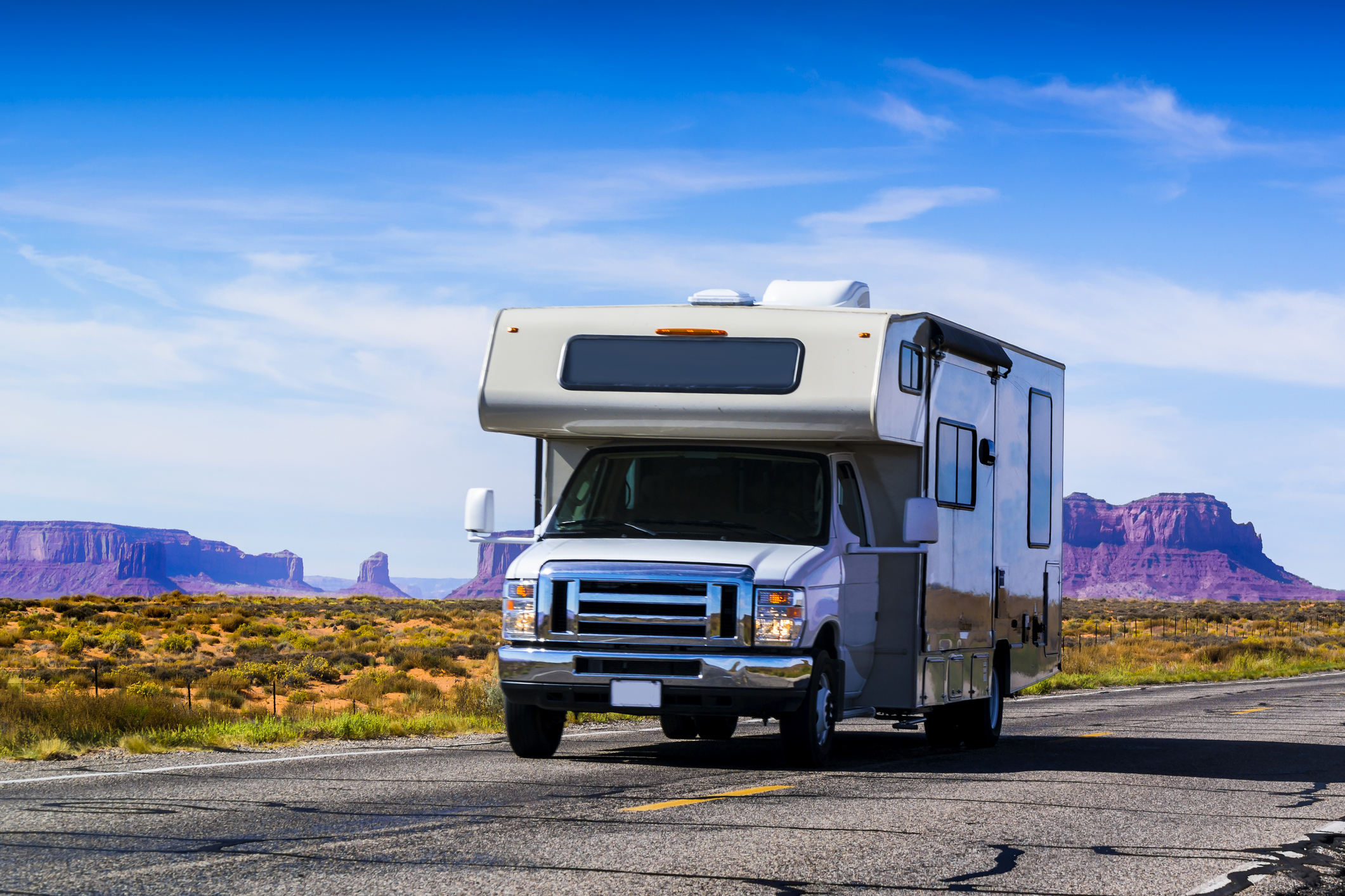 RV on it's way to the RV Dealer