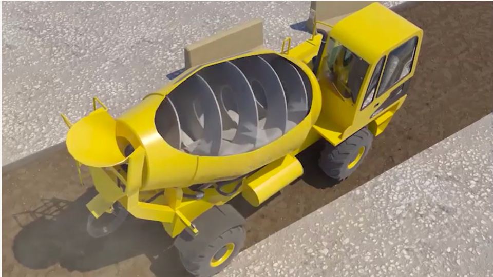 Cement Mixer Tip-Over Safety Recreation