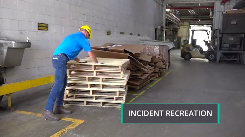 Muscle Strain Safety Incident Recreation Still