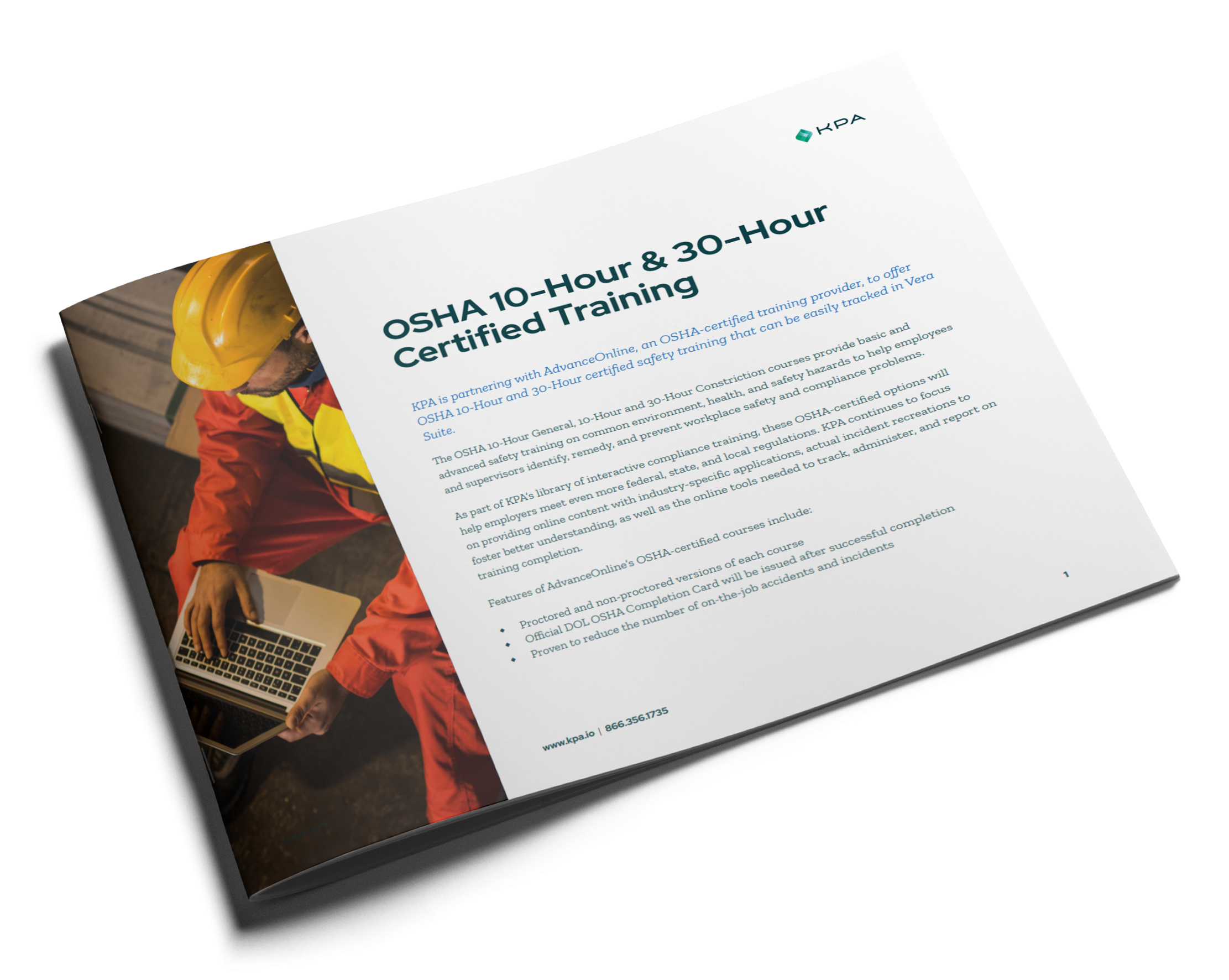 OSHA 10-Hour & 30-Hour Certified Training Datasheet Cover Thumbnail