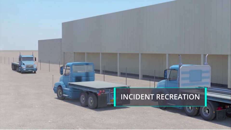 Rebar Truck Yard Fatality Incident Recreation