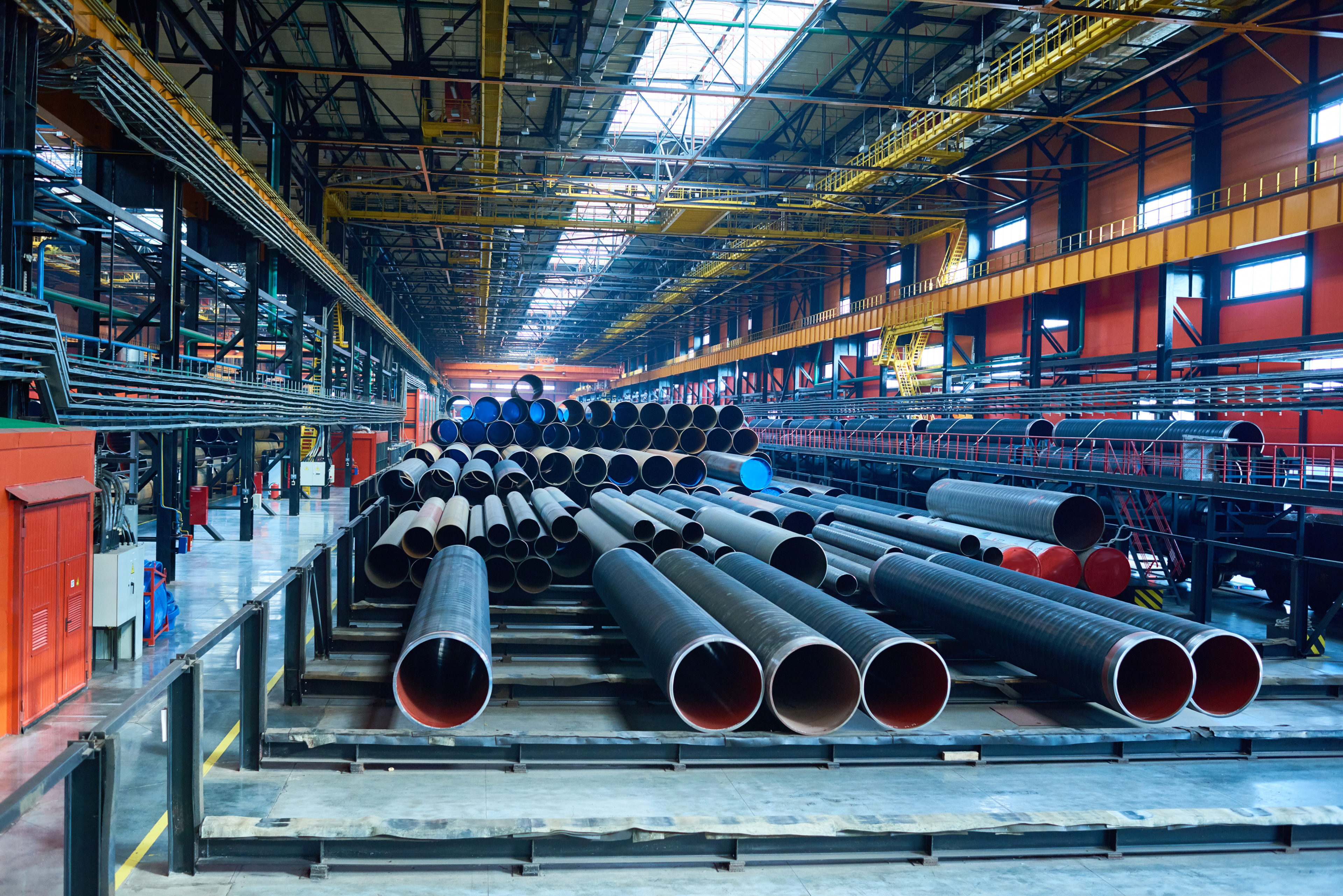 Abundance of pipes at factory
