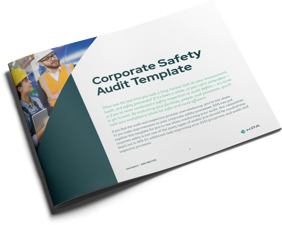 Corporate Safety Audit Template Cover