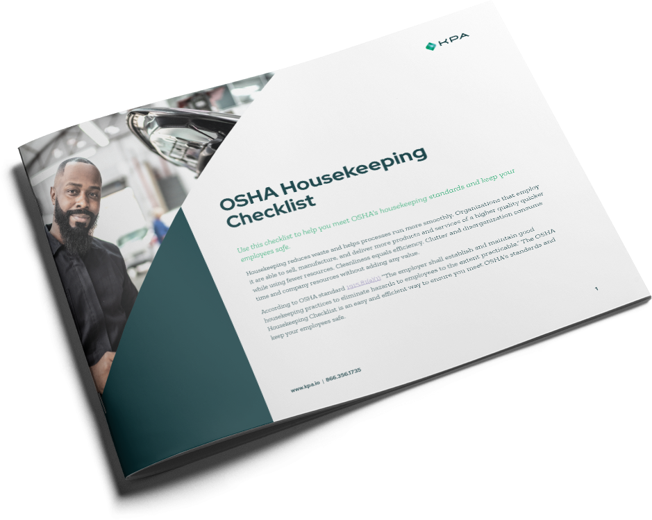 KPA - Dealership OSHA Housekeeping Checklist Cover
