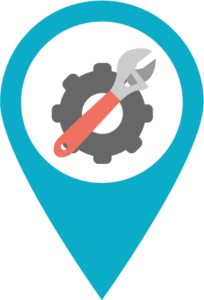 icon of gear and wrench