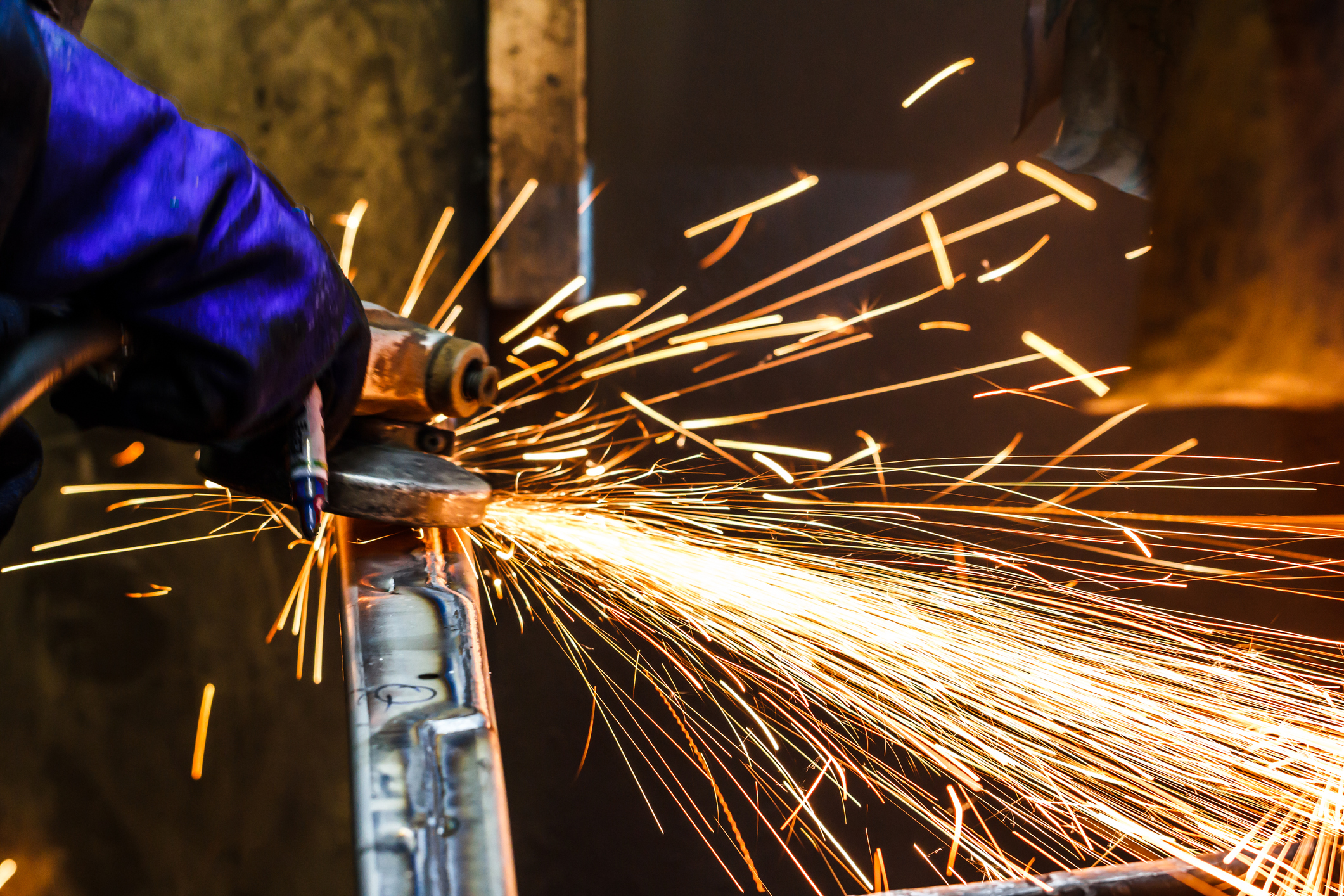 grinding machine sparks