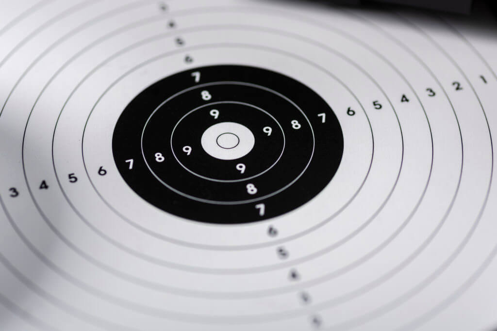 shooting target close-up