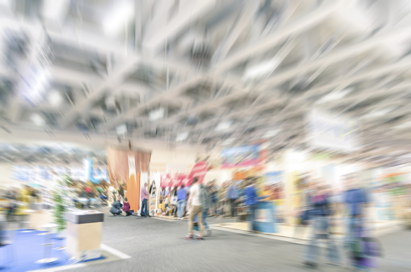 blurred image of trade show