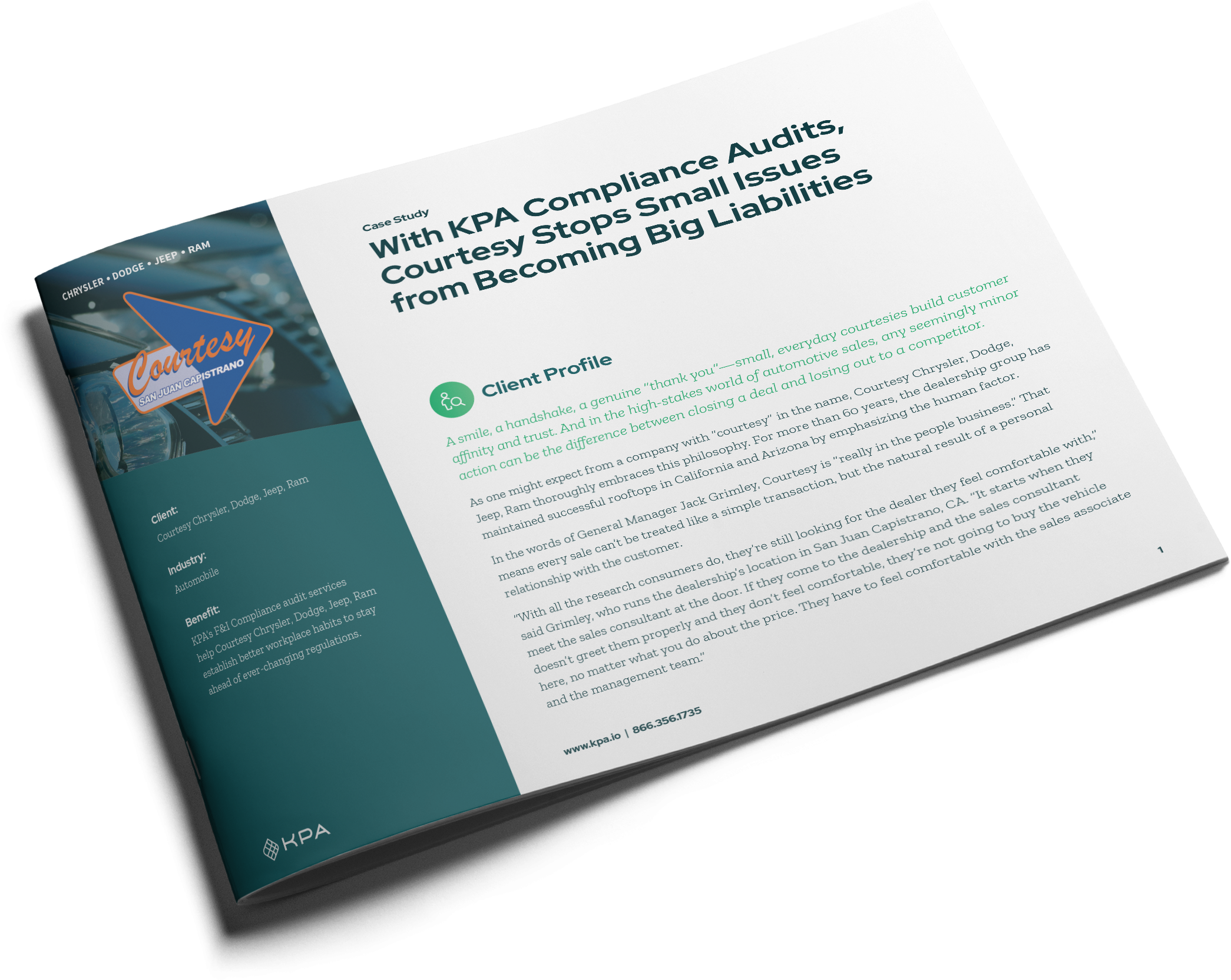 Case Study with KPA Compliance Audits