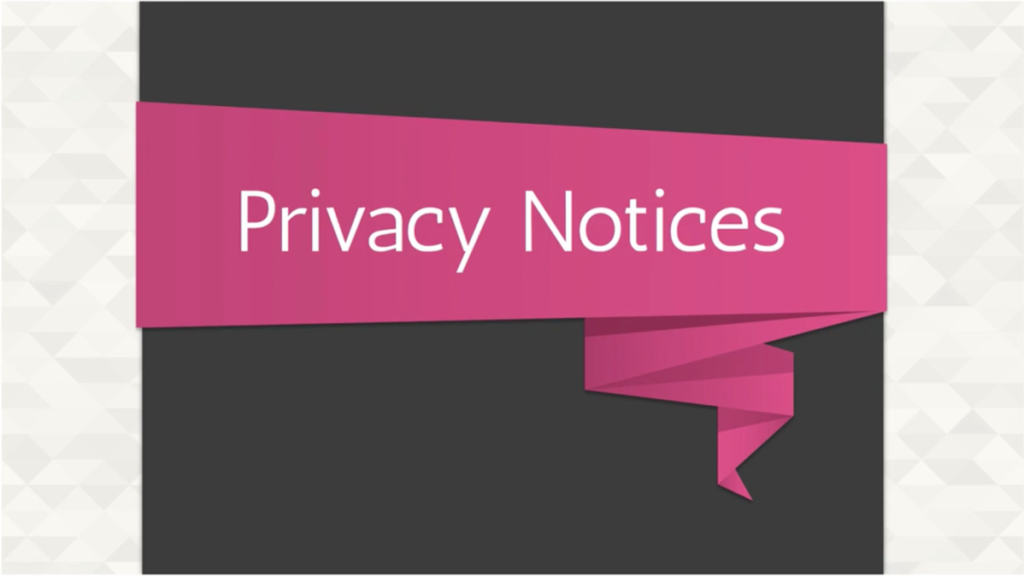 Privacy Notices Screenshot