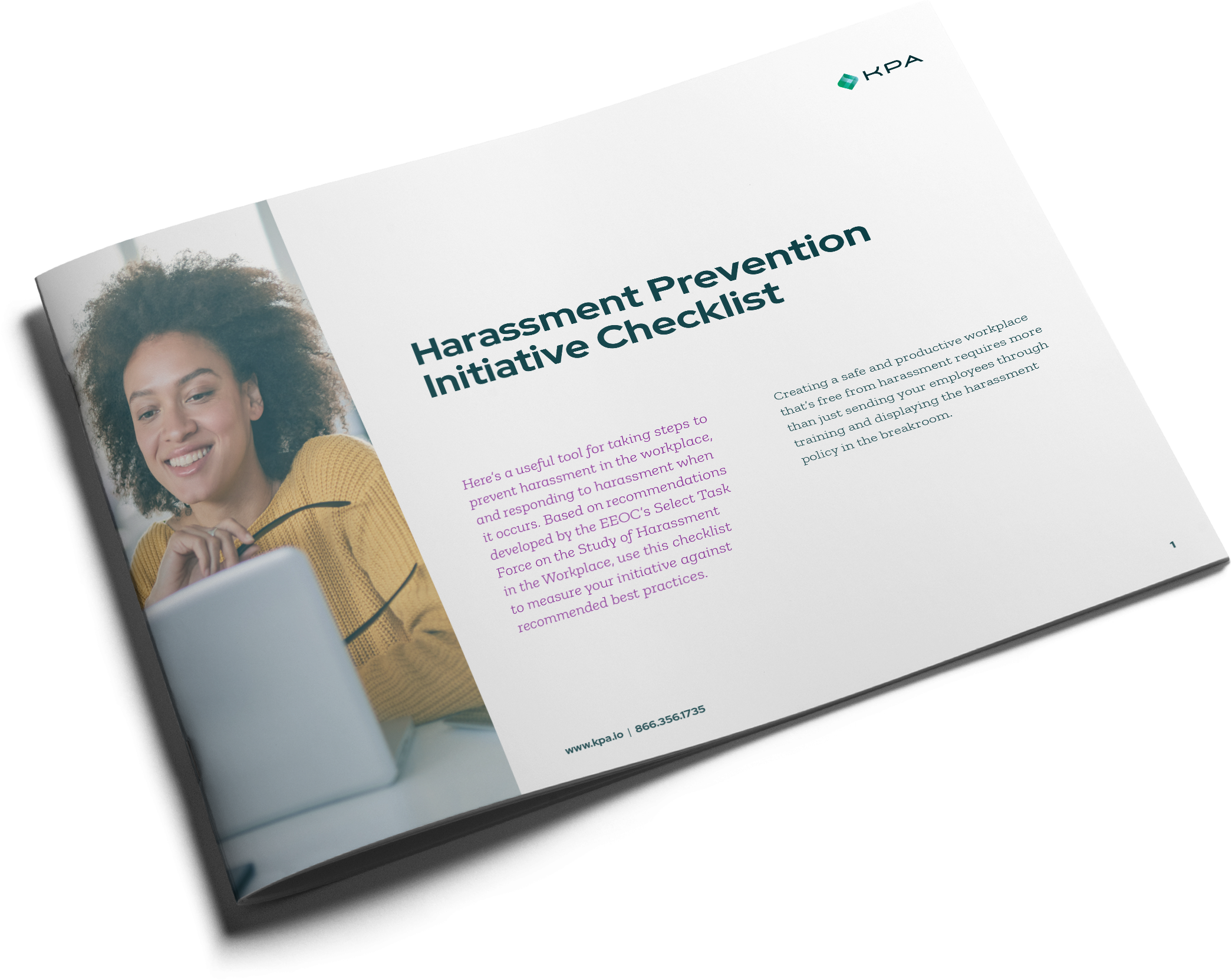 Harassment Prevention Initiative Checklist booklet cover