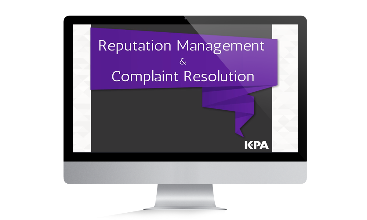 reputation management and complaint control training
