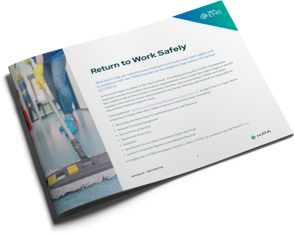 cover of the return to work safely datasheet
