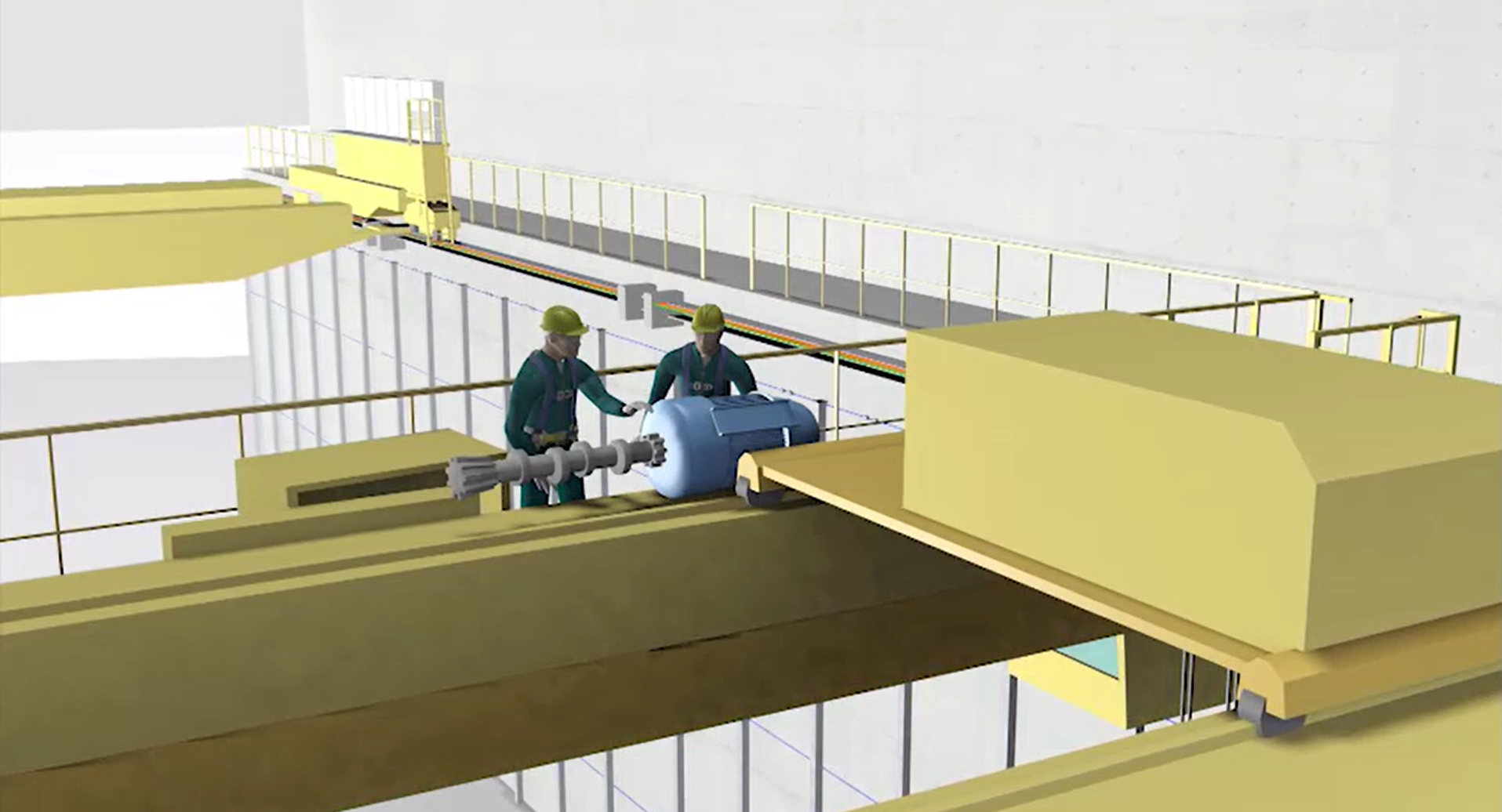 Rendered drawing of a manufacturing near miss