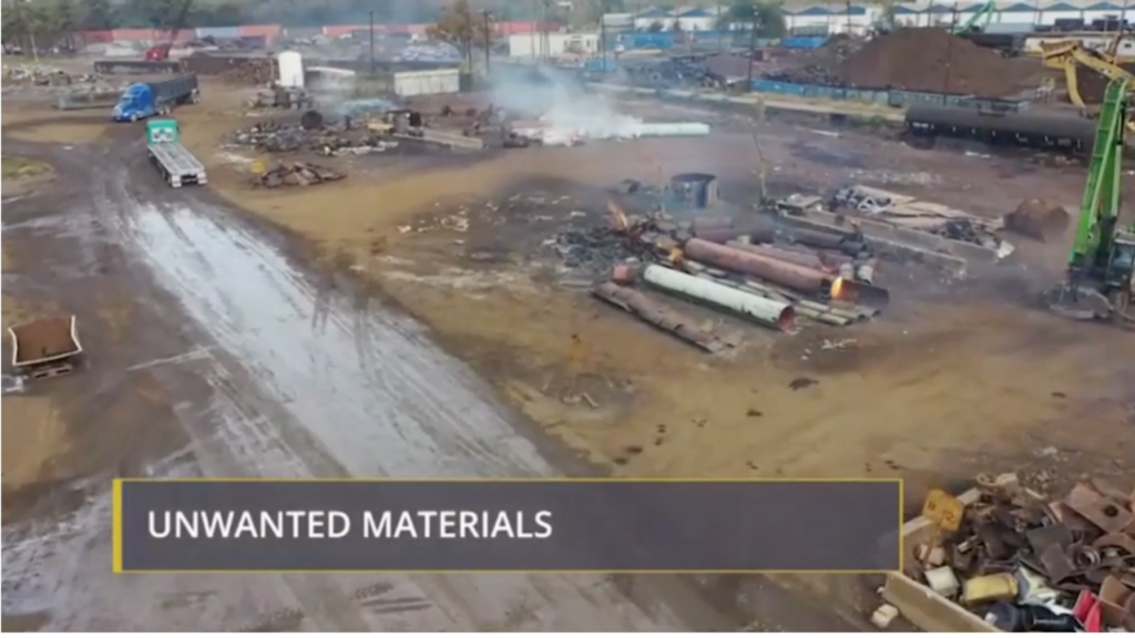 Continuous scrap inspections and identifying unwanted materials training screenshot