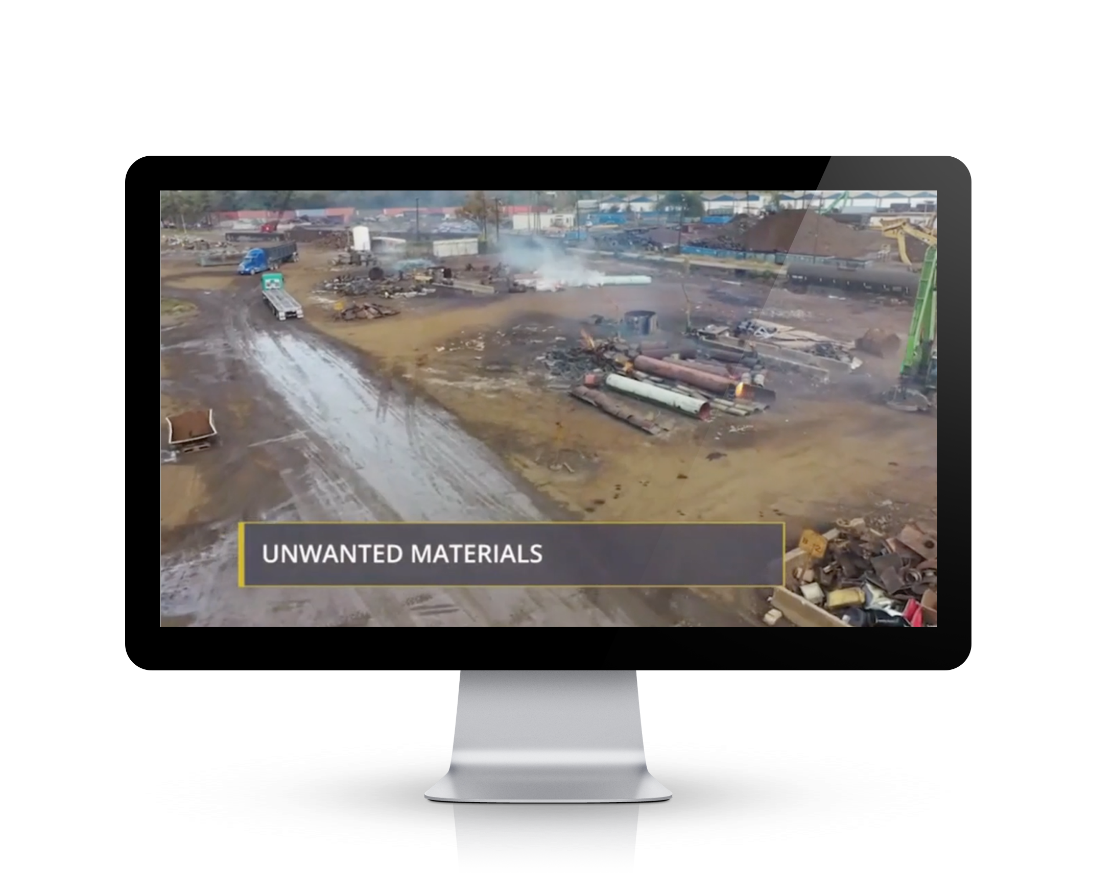 Continuous scrap inspections and identifying unwanted materials training screenshot on a video base