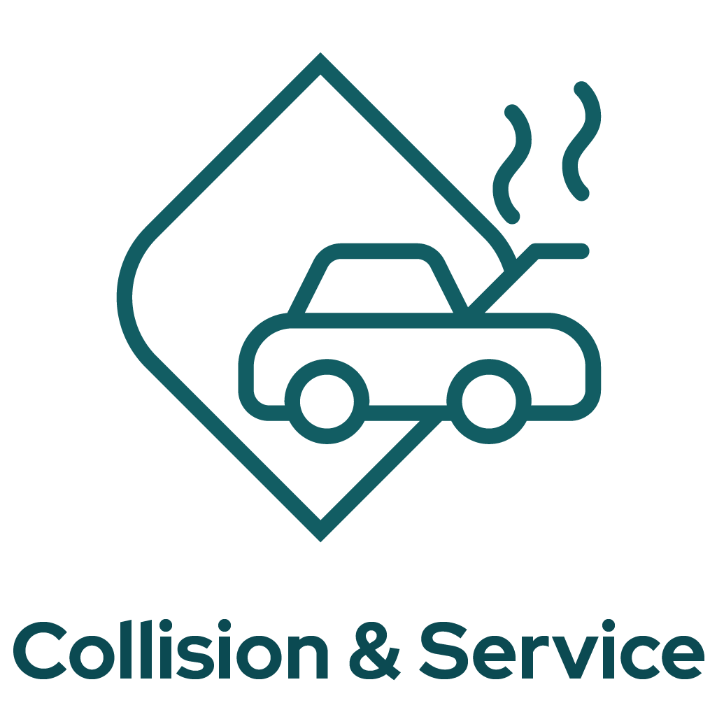 Collision Centers and Service Centers Icon Graphic