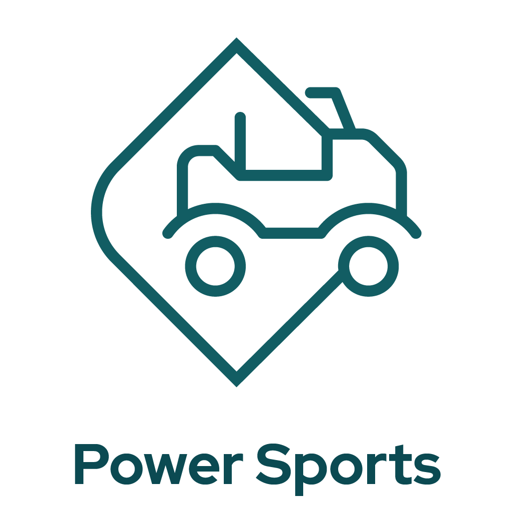 Power Sports Dealers Icon Graphic