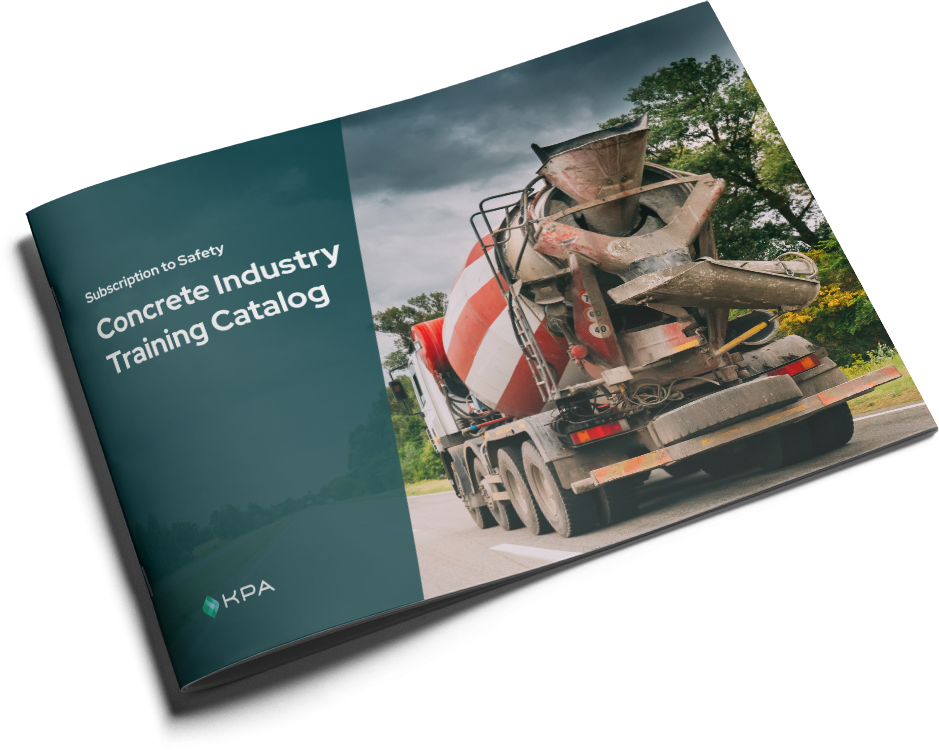 KPA - Subscription to Safety Training Catalog - Concrete Cover