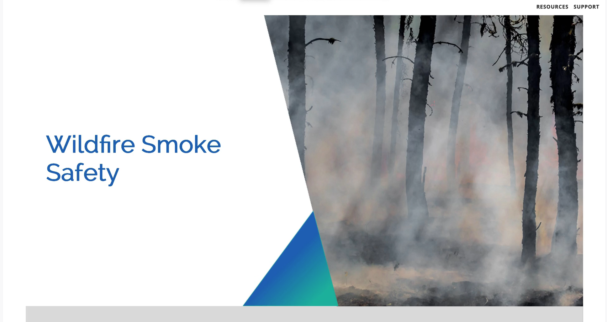 Video - Wildfire Smoke Safety Course Screen Shot