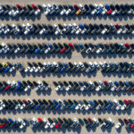 Aerial View of Rows of Cars